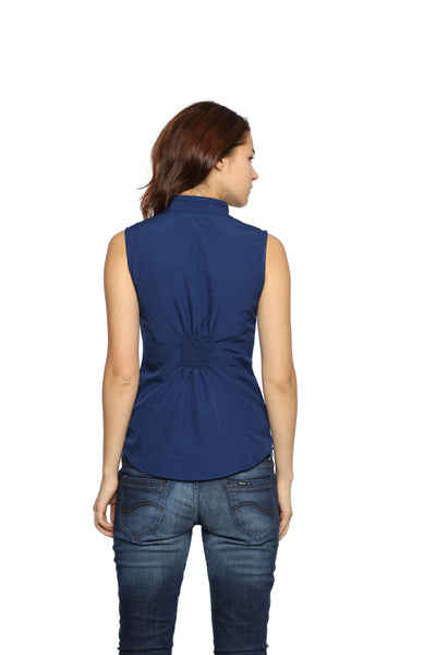 Shoulder Pin Tuck Top Back