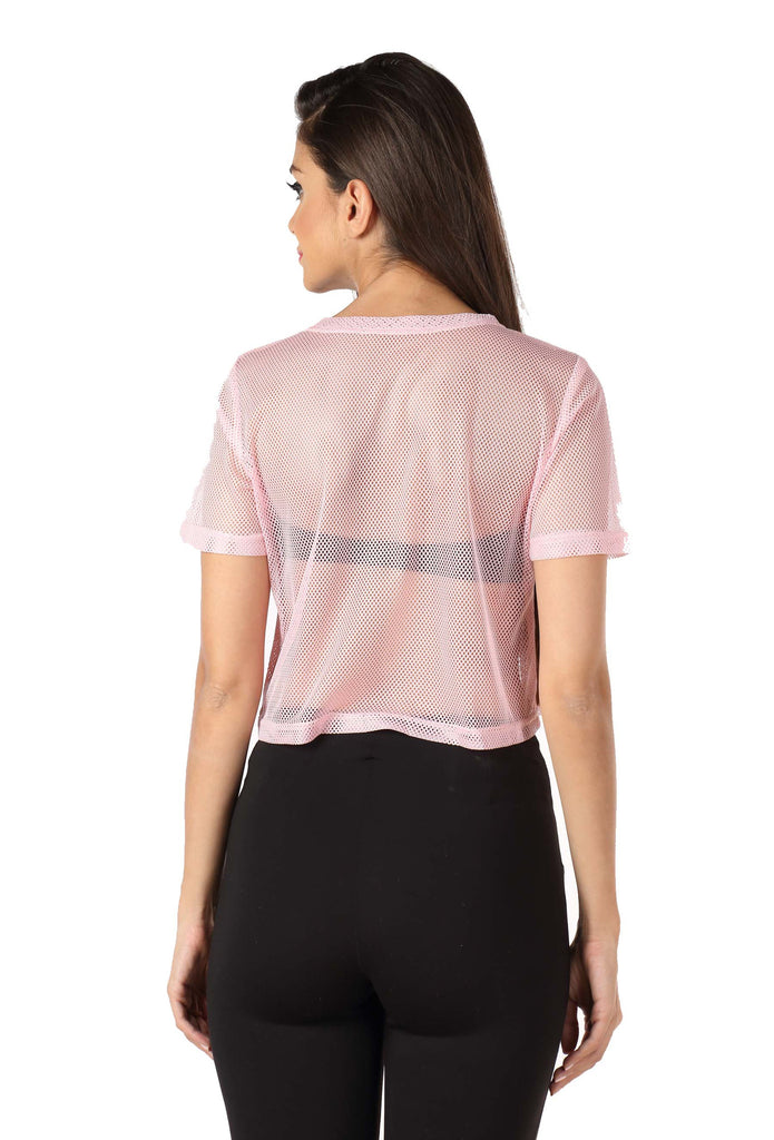 b898ba9447418a Pink Sheer Top – Myvoute- Your Personalized Wedding Collection