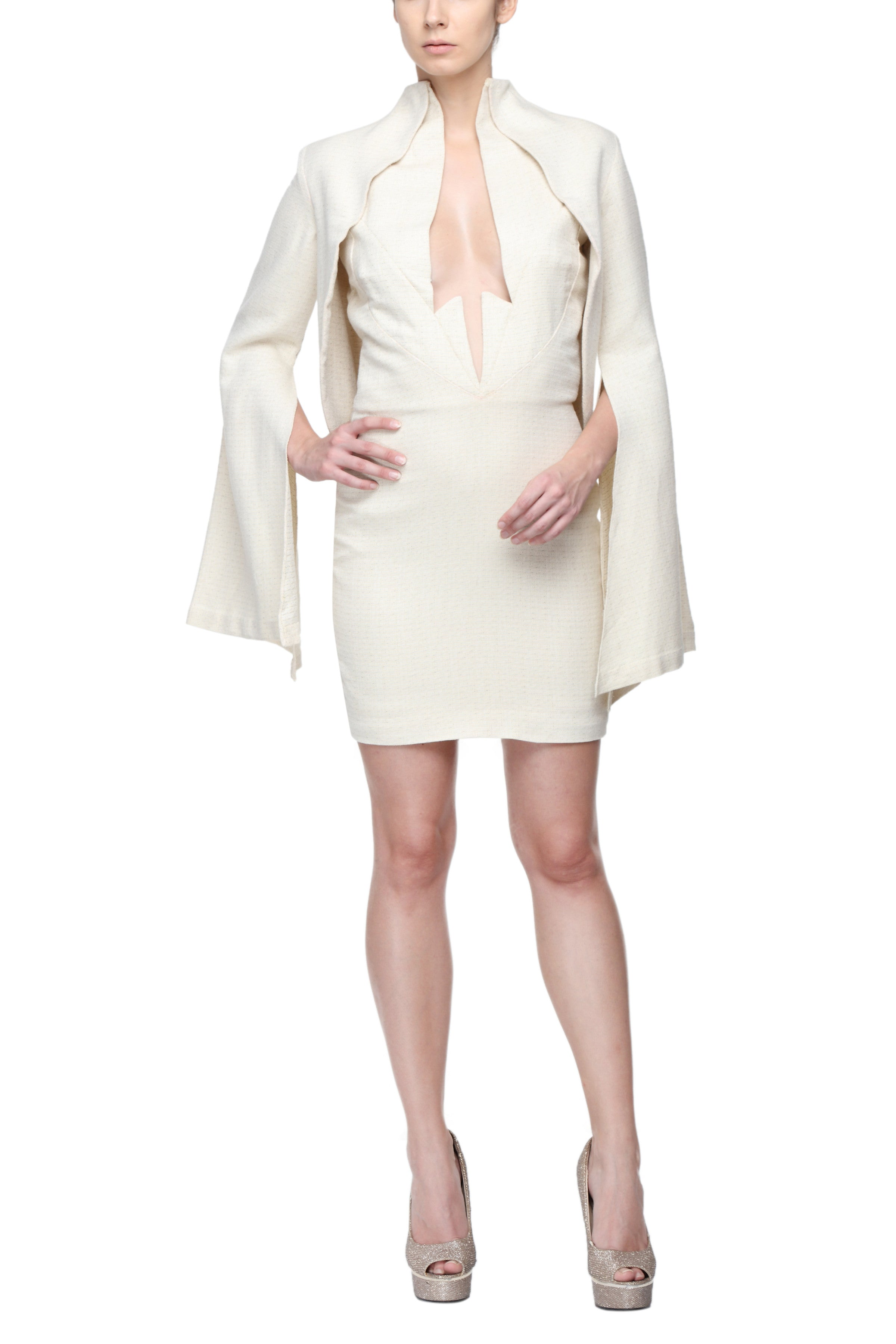 Shift Dress With Kimono Sleeves Front