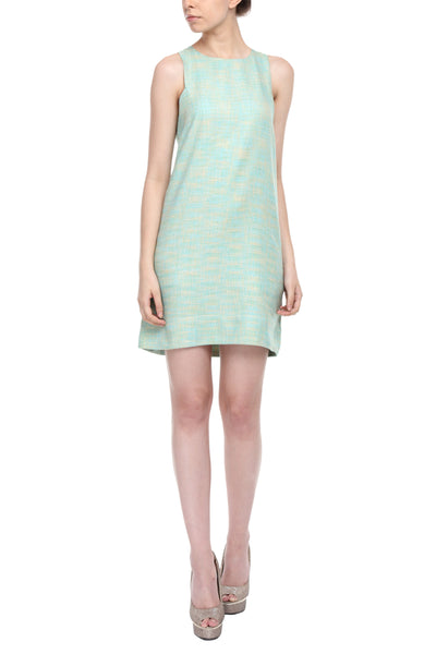 Square Armhole Dress In Sea Green Side