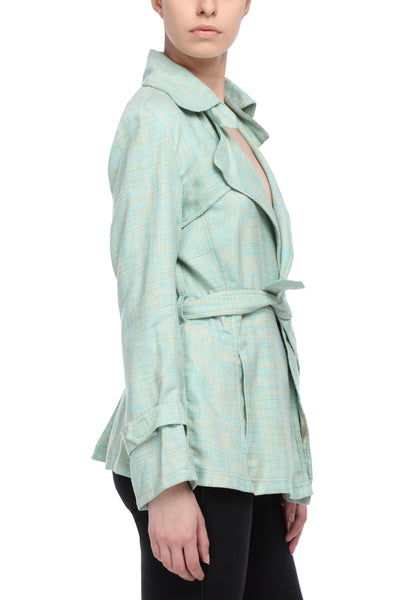 Summer Trench Coat in Green Side