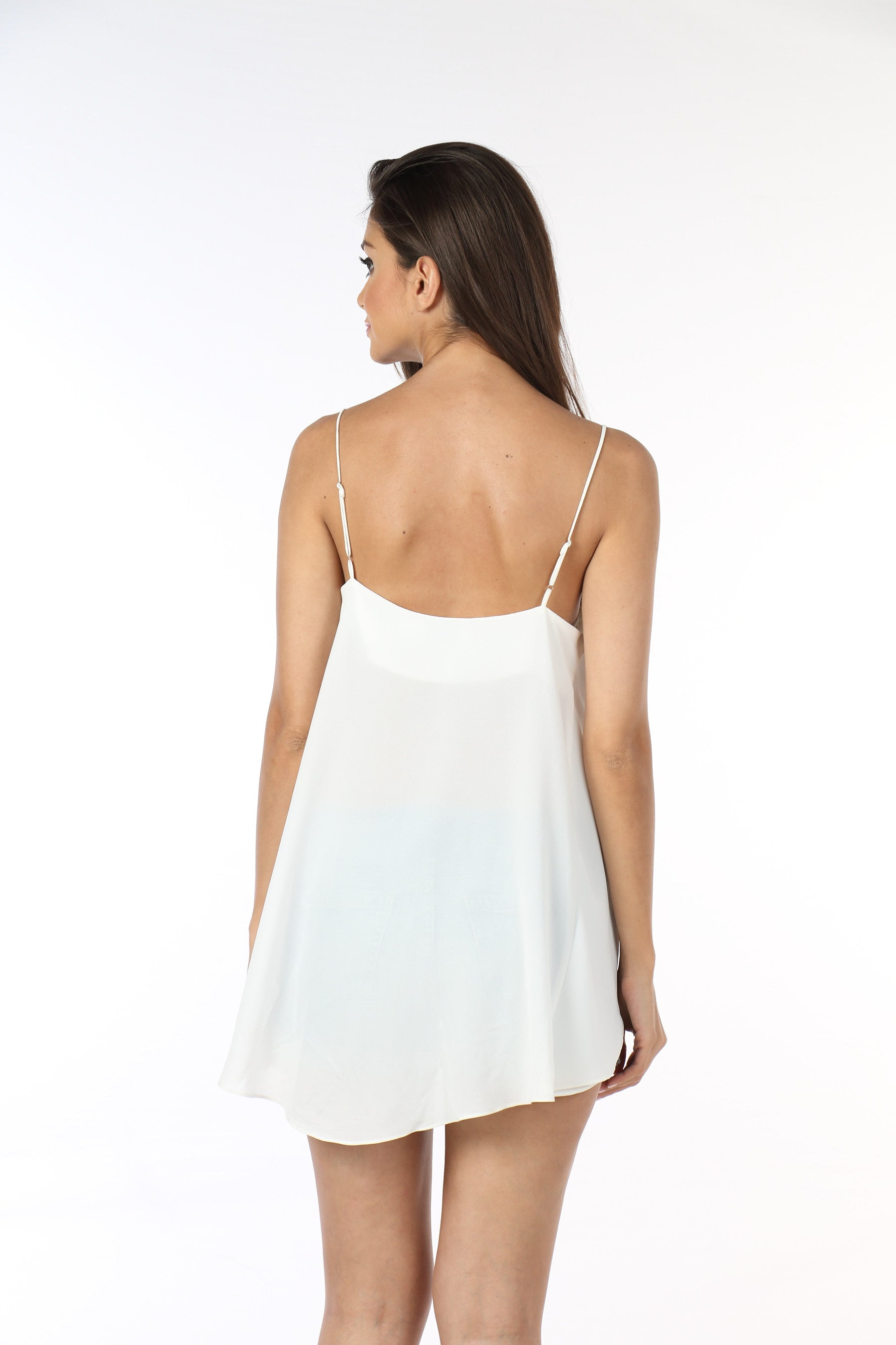 White Georgette Top Back
