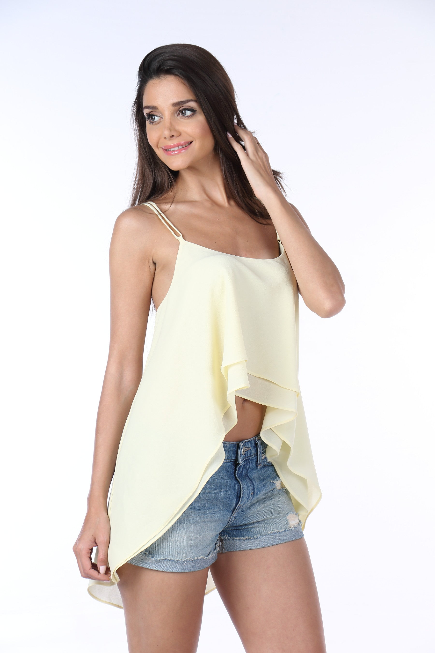 Yellow Georgette Top Side