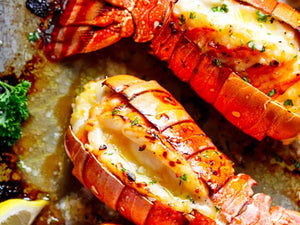 Lobster Tails With Honey Garlic Butter White Wine Sauce | Seafood | Meat Delivery | South Stream Markets