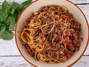Spaghetti with Pork and Chilli Sugo | US Premium Berkshire Pork Mince Hormone Free