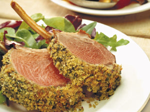 NZ Premium Grassfed 2 Lamb Racks Cap Off Frenched | Roast Rack of Lamb with Herb Crust | Meat Delivery | Seafood Delivery | Online Butcher | south stream market | meat market