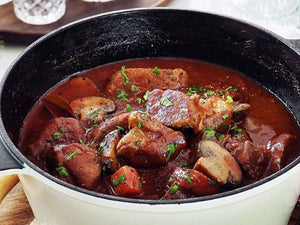 Pork Shoulder & Mushrooms Red Wine Stew | Hormone Free Pork Collar/Shoulder Rindless Steak | Meat Delivery | Seafood Delivery | Online Butcher | south stream market | meat market