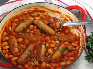 Sausage & Butter Bean Stew | US Premium Guinness Beer Brats