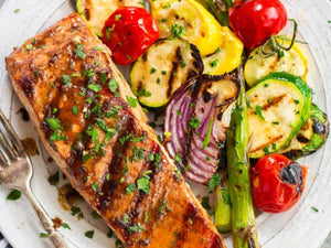 Marinated Grilled Salmon | Premium New Zealand King Salmon Skin-On Fillet