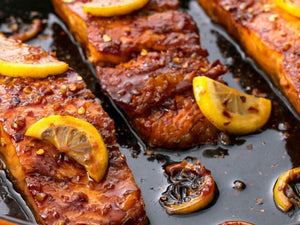 Honey Garlic Glazed Salmon | Premium New Zealand King Salmon Skin-on Fillet | Meat Delivery | Seafood Delivery | Online Butcher | south stream market | meat market