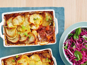 Lamb And Potato Hotpot With Red Cabbage Salad | HOT POT | NZ PREMIUM GRASS-FED LAMB SHOULDER HOT POT SLICES | Meat Delivery