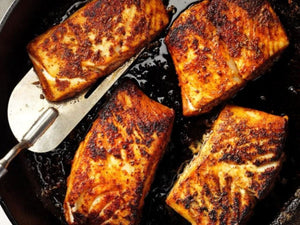 Ocean Catch Premium Alaska Greenland Halibut Boneless And Skin-on Fillet | Blackened Halibut