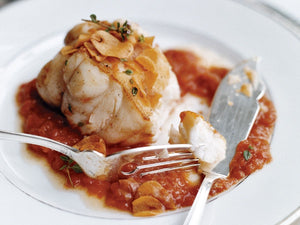 Monkfish in Tomato-Garlic Sauce | Ocean Catch New Zealand Monkfish Boneless And Skinless Fillet