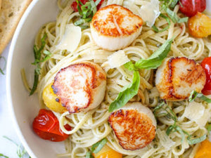 Scallops with Linguine Recipe | Meat Delivery | Seafood Delivery | South Stream Farmers Market