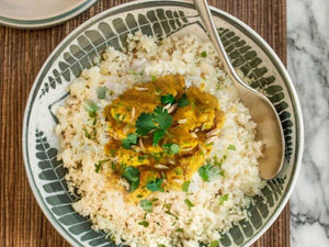 Mango Chicken Curry With Cauliflower Rice | Chicken Thigh Fillets