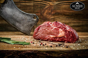 Dry Aged 21 Days Australian Angus Beef, Premium Ribeye (Scotch Fillet) MS +2, From 1kg -  Chilled (PRE-ORDER 25 DAYS)  Aussie Meat Delivery HK