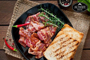 Aussie Meat Pork | Premium UK Streaky Bacon (200g) | Meat and Seafood Delivery