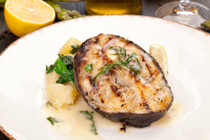 "Ocean Catch | American US Black Cod Steak Skin-On (""~300g"") 