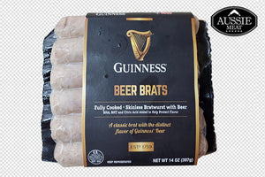 Premium US Guinness Beer Brats (6 Sausages, 397g) | Meat and Seafood Delivery