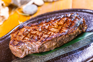 Beef Hong Kong - Australian Black Angus Grain Fed Striploin (Sirloin) Steaks Marble Score 2+ (250g or 350g) - CHILLED Aussie Meat