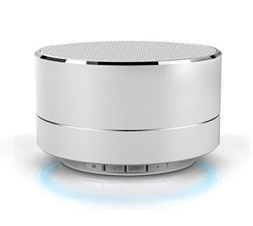 Silver Mini Bluetooth Speaker