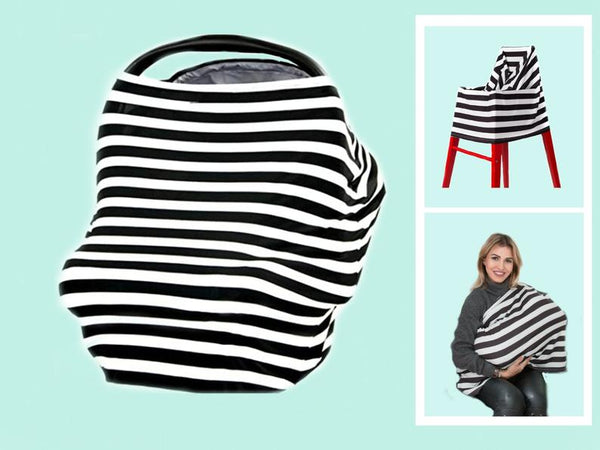 5 in 1 stretchy car seat cover, car seat canopy, nursing cover, baby cover, baby carseat cover, baby shower gift