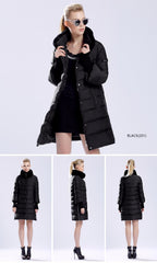 Winter Jacket Parkas Rabbit Fur Collar High Quality
