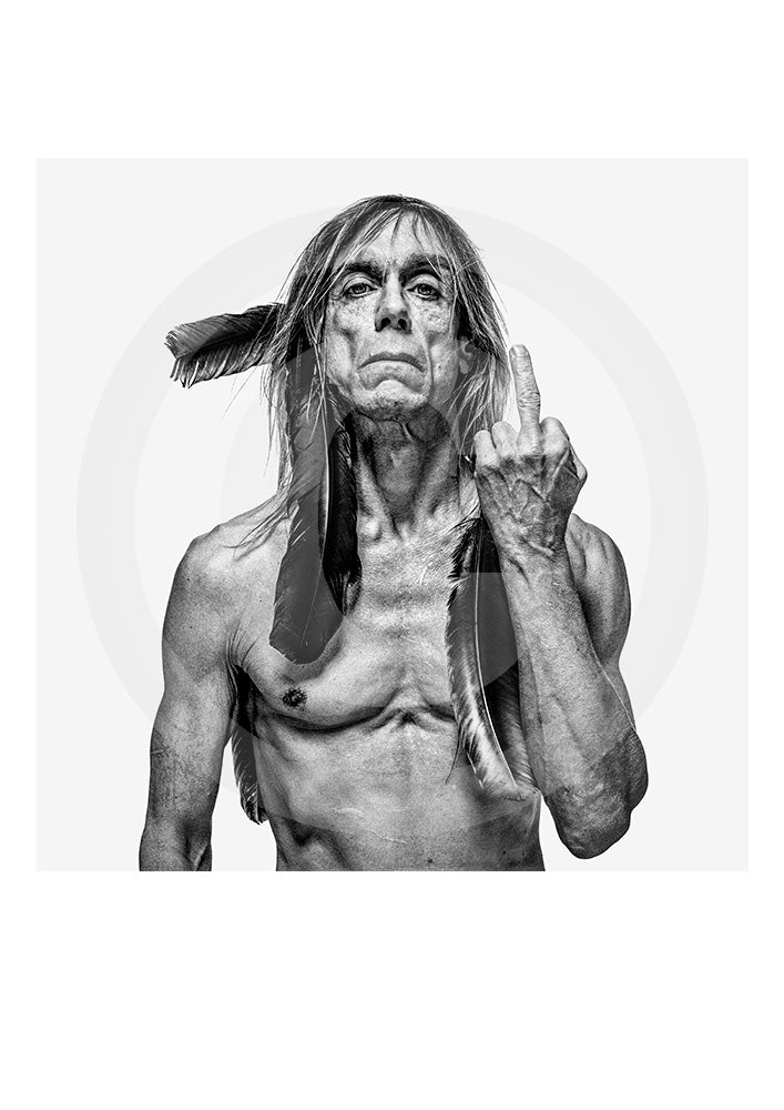 Iconic collectors Open Edition print of legendary actor/ singer and Stooges frontman Iggy Pop. Image taken in New York, 1998. Copyright Gavin Evans
