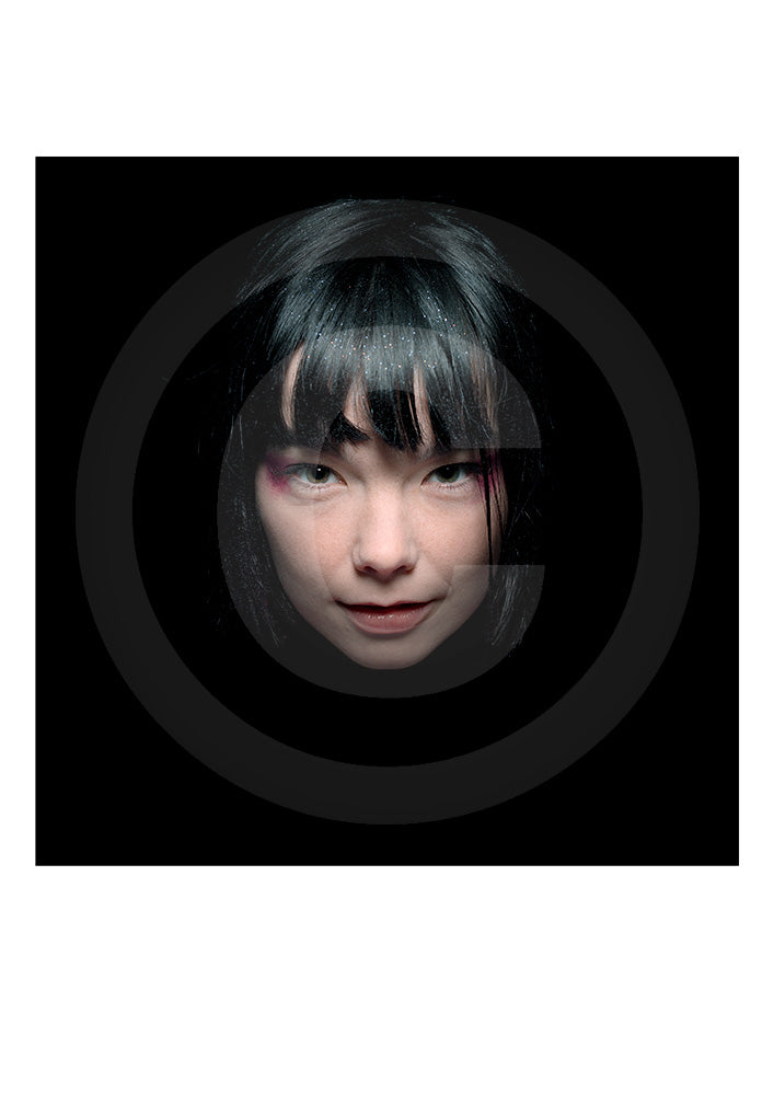 Iconic image of Icelander Björk by photographer Gavin Evans'. This Open Edition print features the photographer's stamp for proof of authenticity.