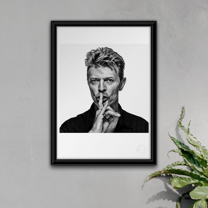 Exclusive and authentic David Bowie Open Edition Print by Gavin Evans