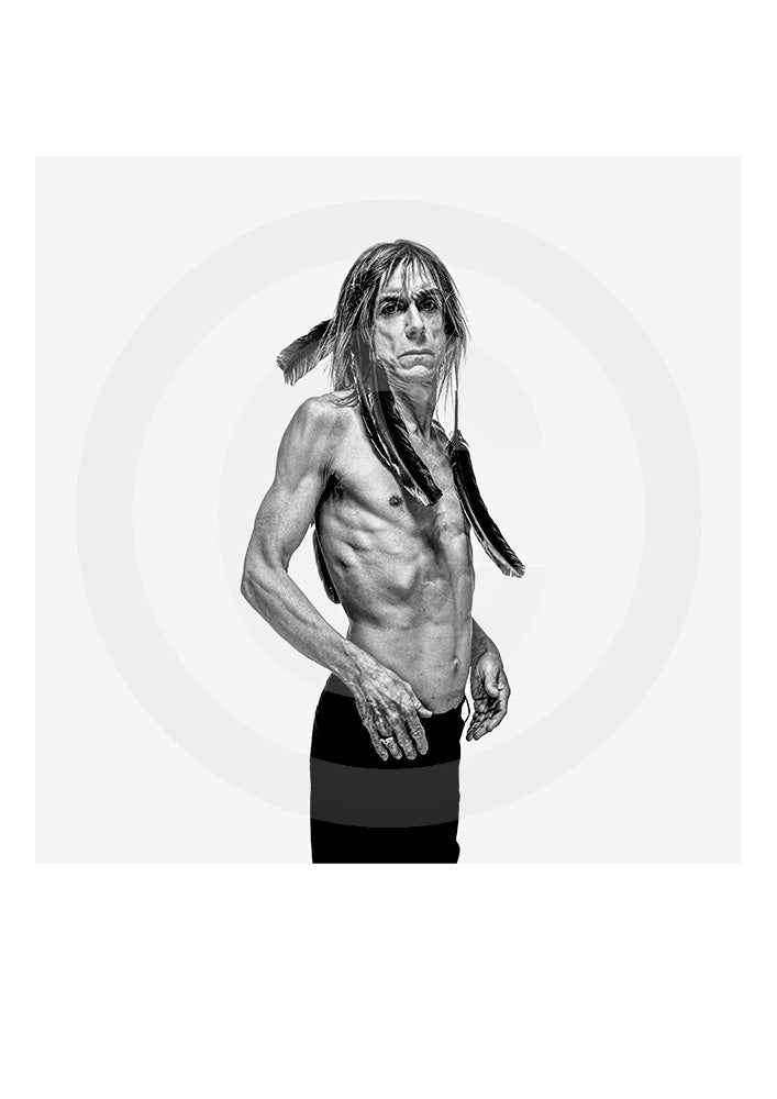 Genuine Limited Edition print of Iggy Pop by renowned portrait photographer Gavin Evans. Photograph taken from Evans' 'biopic- Iggy Pop' publication.