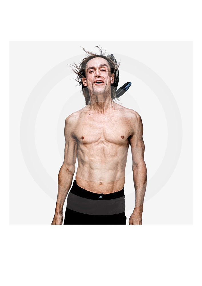 Iconic Limited Edition print of legendary Stooges frontman, radio presenter, actor and singer Iggy Pop by photographer Gavin Evans. Shot in New York, 1998.