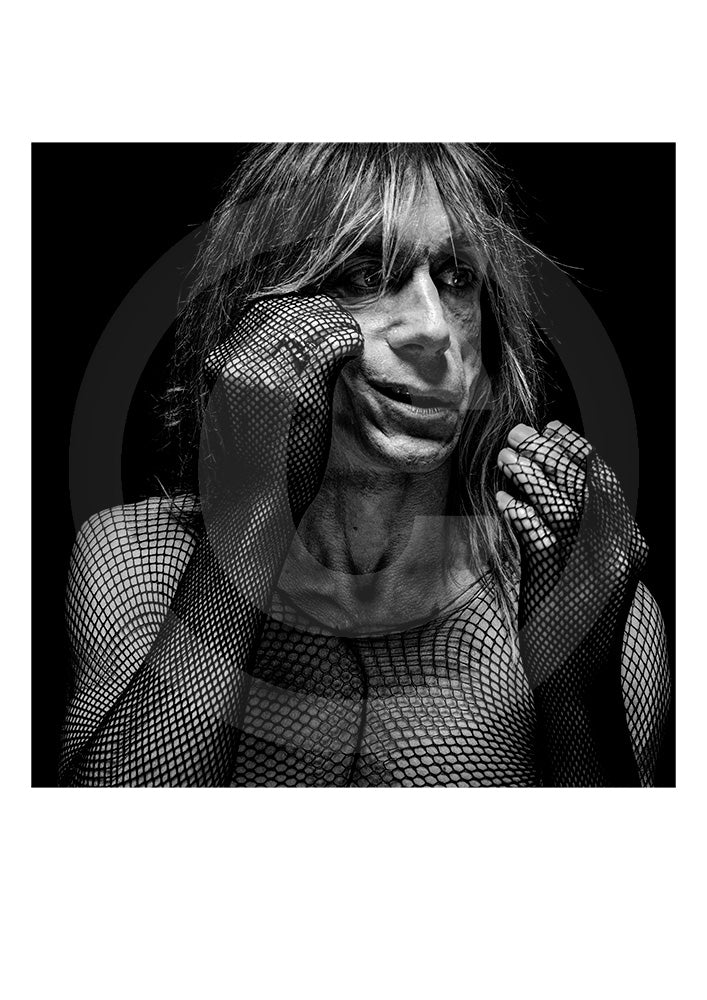 Iconic collectors Limited Edition print of singer/ actor Iggy Pop by renowned British portrait photographer Gavin Evans. Photograph taken from Evans' 'biopic- Iggy Pop' publication.