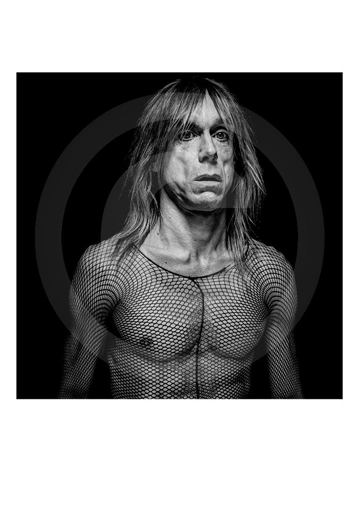Exclusive signed Limited Edition print of legendary singer/ actor Iggy Pop by renowned British portrait photographer Gavin Evans. Photograph taken from Evans' 'biopic- Iggy Pop' publication. Shot in Manhattan, 1998.