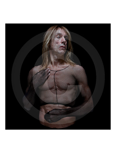 Genuine signed collectors Ltd Edition print of singer/ actor Iggy Pop by renowned British portrait photographer Gavin Evans. Image taken in 1998, Manhattan, New York.