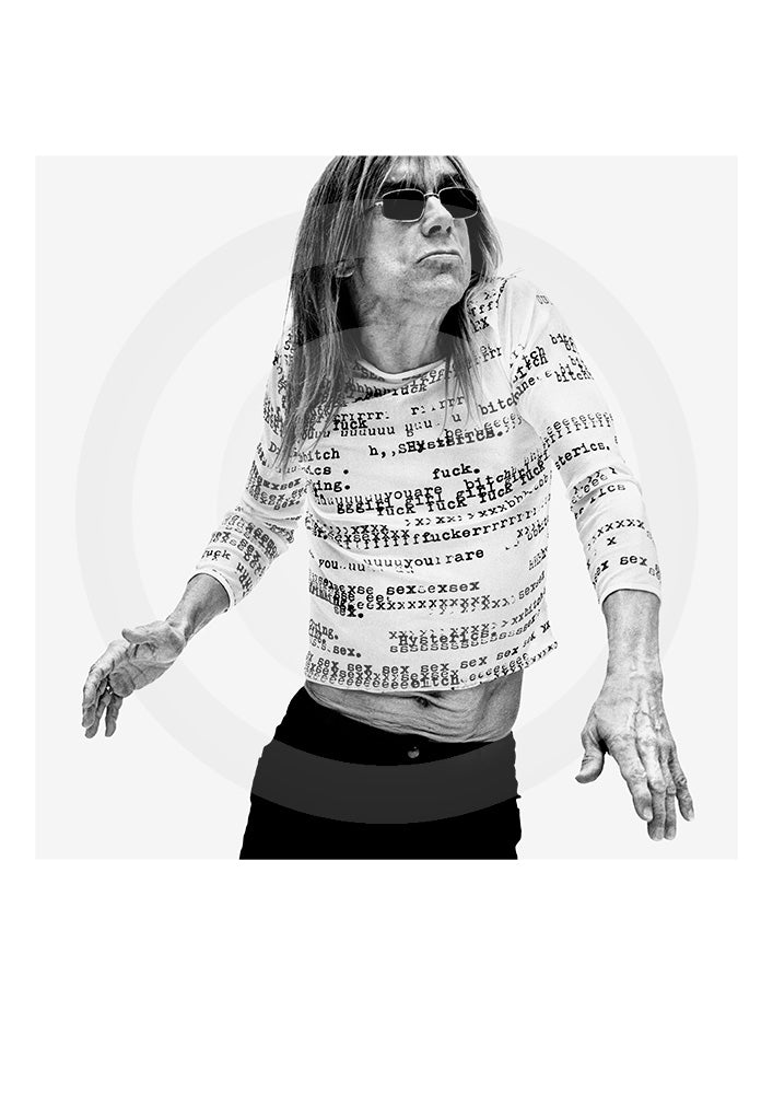 Exclusive signed collectors print of radio presenter, actor and singerJames Newell Osterberg Jr. A.K.A Iggy Pop by renowned portrait photographer Gavin Evans.