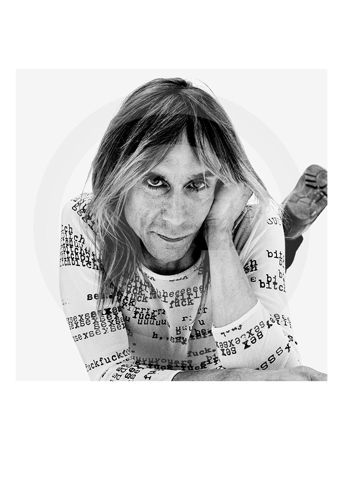 Genuine collectors Limited Edition print of radio presenter, actor and singer Iggy Pop by renowned portrait photographer Gavin Evans. Shot in 1998, New York. Photograph taken from Evans' 'biopic- Iggy Pop' publication.