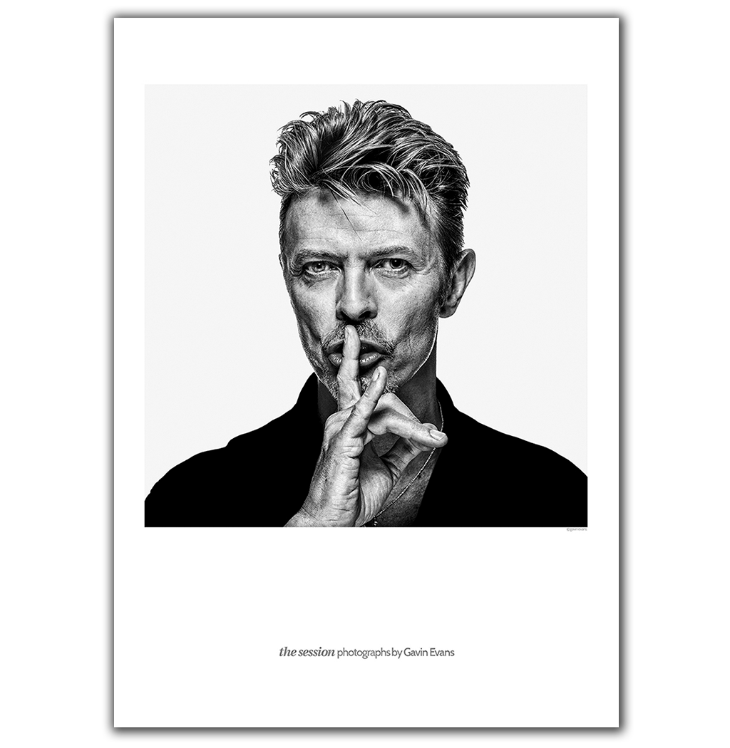 Exclusive collectors lithograph of icon David Bowie. Portrait by Berlin based photographer Gavin Evans