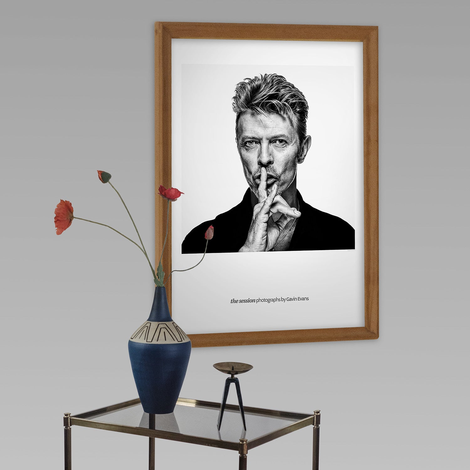 Beautiful Gallery Lithograph of David Bowie by renowned portrait photographer Gavin Evans