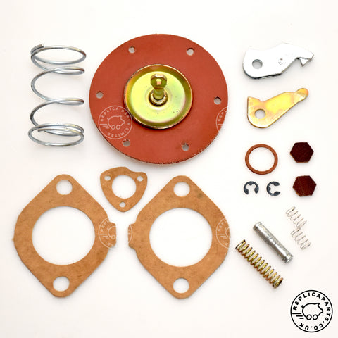 VW Volkswagen Bettle Karmann-Ghia Kombi Bus 09-1952 to 07-1960 Fuel pump repair kit 24 30 BHP PS 111 198 551 ReplicaParts.co.uk