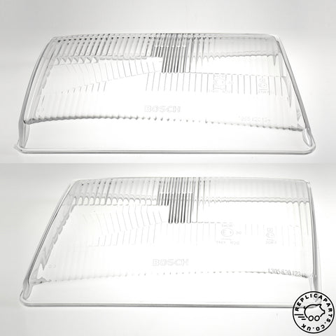 Mercedes R107 SL C107 SLC Headlight Lens H1 RHD x2 Bosch 1305620123 1305620124 ReplicaParts.co.uk