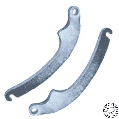 Porsche 356 pre A A B Hand Brake Shoe Lever SET 35642147 35642148 ReplicaParts.co.uk