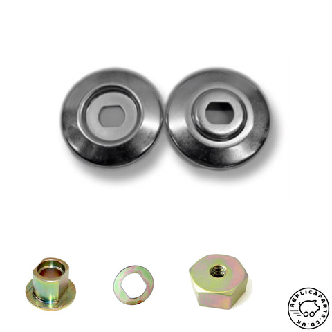 Porsche 356 Early 912 Generator Pulley KIT (inc Hub Nut Shims) Replaces 53909316