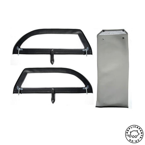 Porsche 356 Speedster Side Curtain Set with storage bag Replaces 64453100100 ReplicaParts.co.uk
