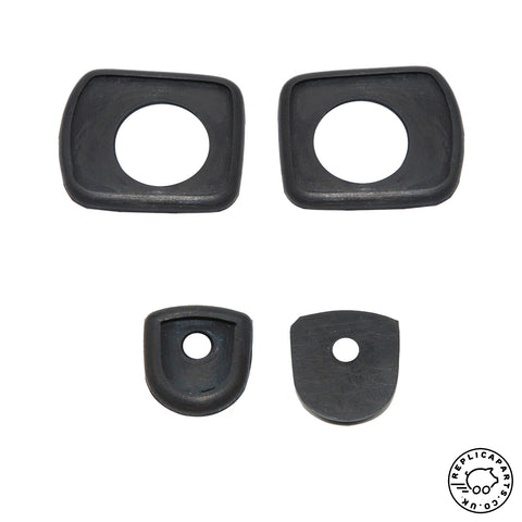Porsche 356 Pre A A T1 Door Handle Gasket Set Replaces 64453100600 64453163200 ReplicaParts.co.uk