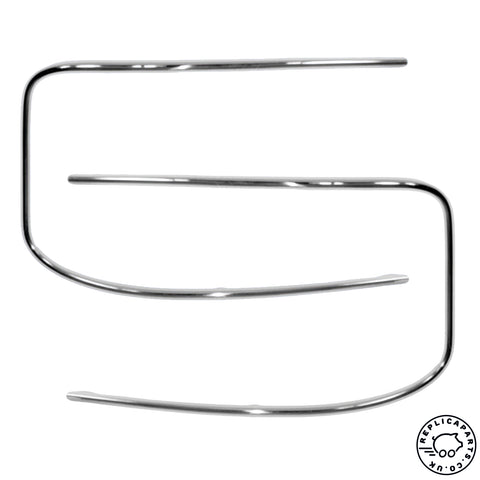 Porsche 356 B T6 C Coupe Windshield Trims Kit 64454191206 64454191106 64454192106 ReplicaParts.co.uk