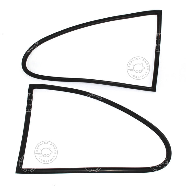Porsche 356 Quarter window seals on frame pair for L&R Replaces 644.543.905.00