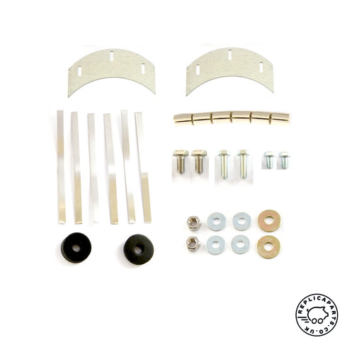 Porsche 356 B C Horn Grille Hardware Attaching Pieces Kit Replaces 64455900200 ReplicaParts.co.uk