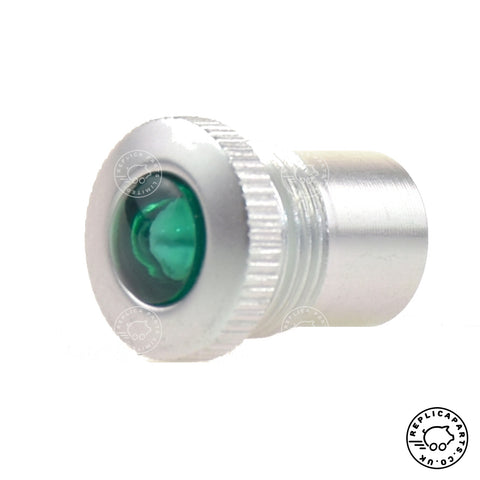 Porsche 356 Green dash universal Indicator light lens and bezel 356610733 Replicaparts.co.uk