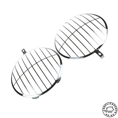 Porsche 356 911 912 -67 Headlight Stone Guard Grilles Replaces 35662114 64462114 ReplicaParts.co.uk